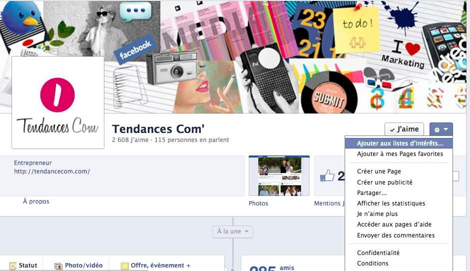 Comment fonctionnent les listes d'intérêts sur Facebook ?