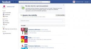Création de la liste d'intérêt Facebook étape 3
