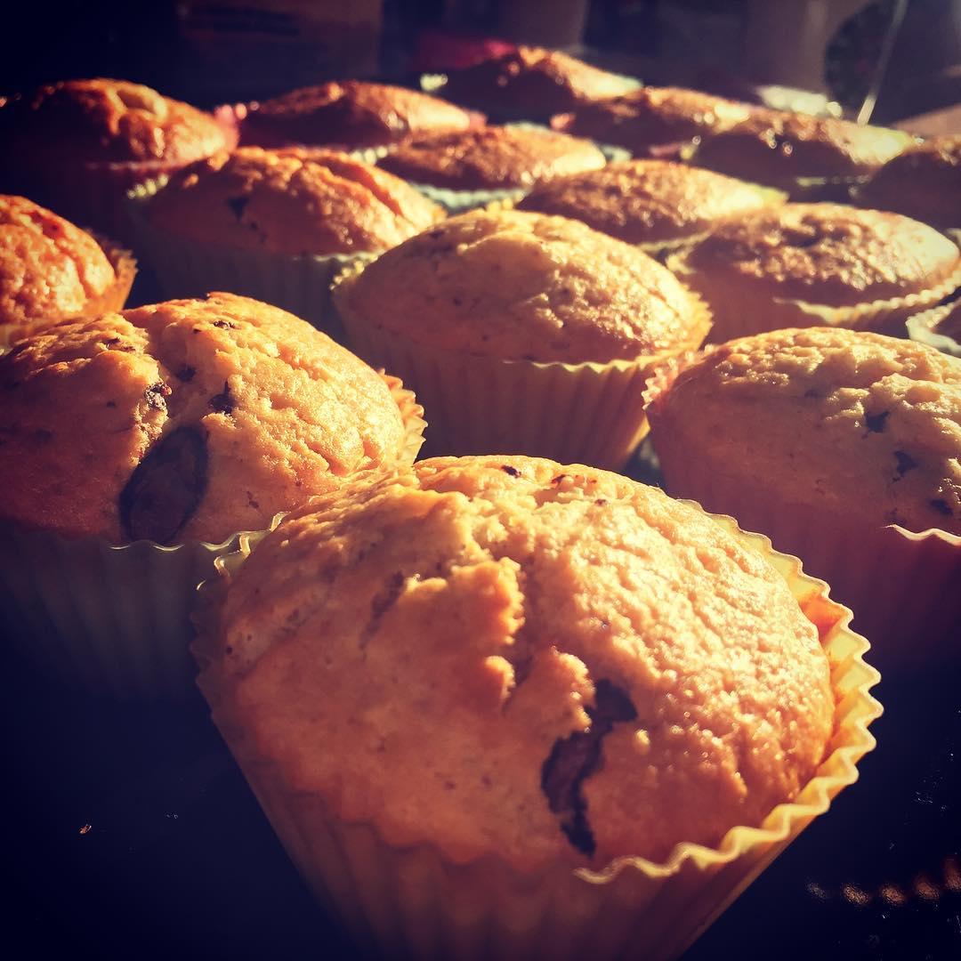 Tout droit sortis du four ! Les muffins vegan laithellip