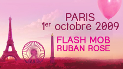 flash mob ruban rose