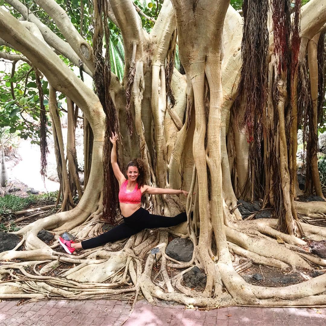 Yoga in the Pocahontass tree ! grancanaria jardincanario jardinbotanico botanicgardenhellip