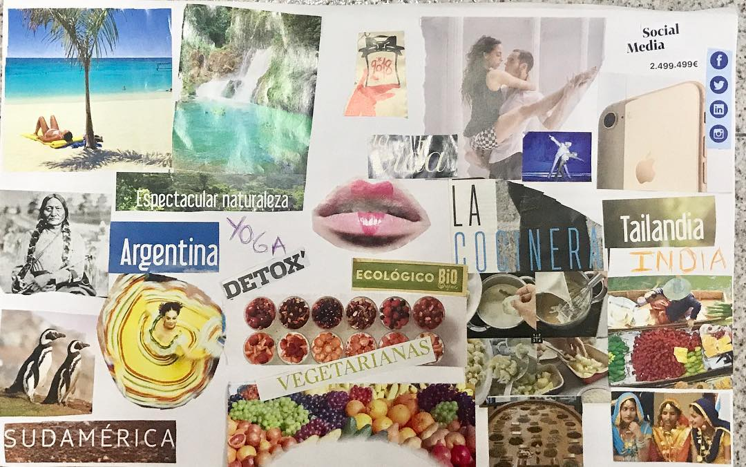 My visionboard2018 ! One January is time to think abouthellip