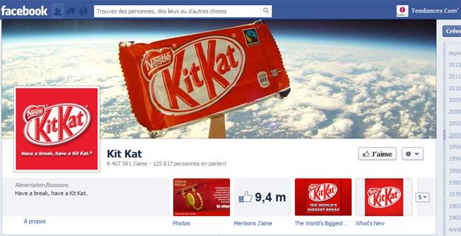 Globale page facebook kit kat mondial