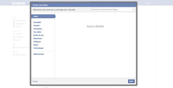 Création de la liste d'intérêt Facebook étape 4