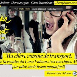 Cher voisin de transport RATP… Je t'aime, moi non plus.