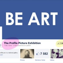 Une exposition de photos de profils Facebook